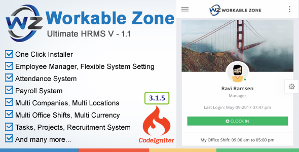 HRM – Workable Zone : Ultimate HR System nulled