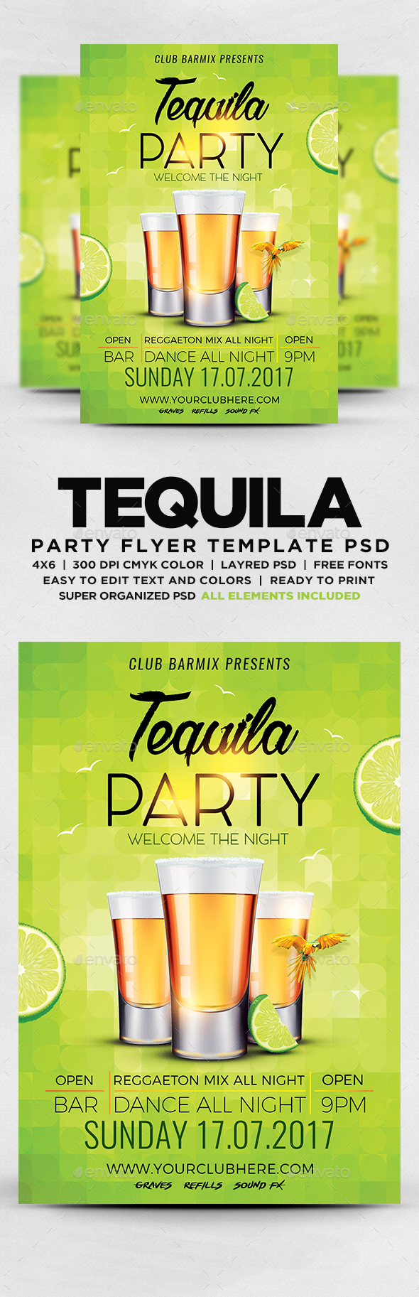 GraphicRiver Tequila Party Flyer 20321939