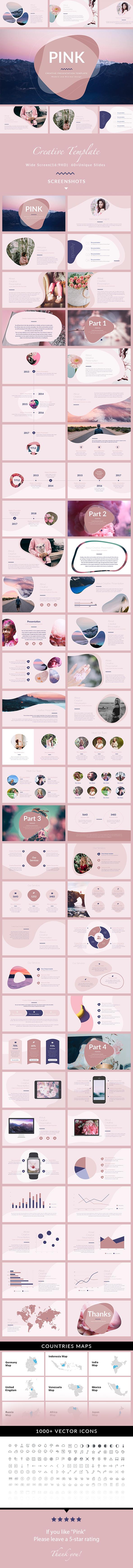 Pink - Minimal & Creative PowerPoint Template - Creative PowerPoint Templates