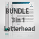 3 in 1 Letterhead Bundle - GraphicRiver Item for Sale