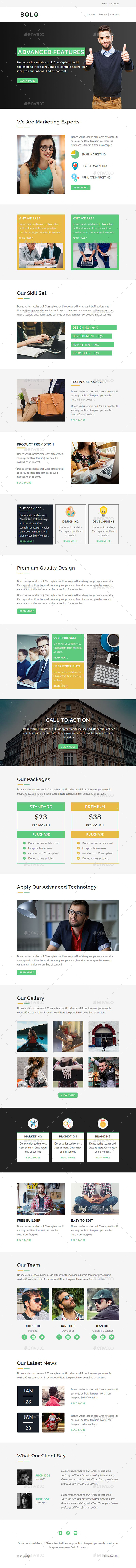 GraphicRiver Solo E-newsletter PSD Template 20321981