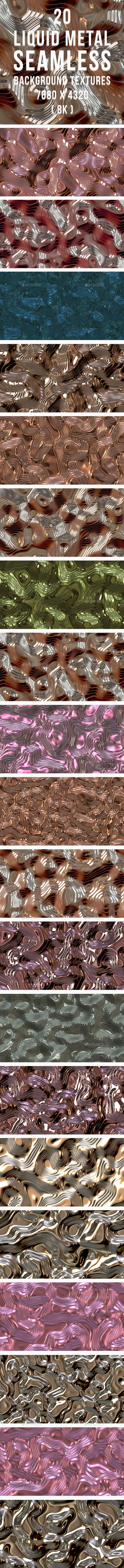 GraphicRiver 20 Liquid Metal Seamless Background Textures 20322541