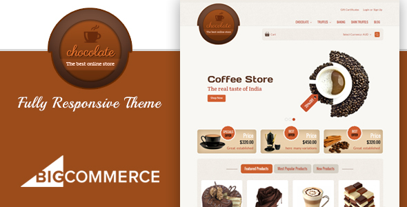 Chocolate - Multipurpose Stencil BigCommerce Theme