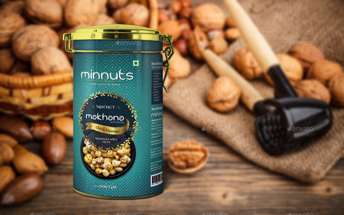 Premium Nuts Packaging Label