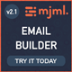 Angular MJML Drag & Drop Email Template Builder