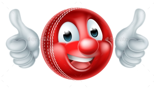 Cartoon Cricket Ball Mascot - Miscellaneous Characters