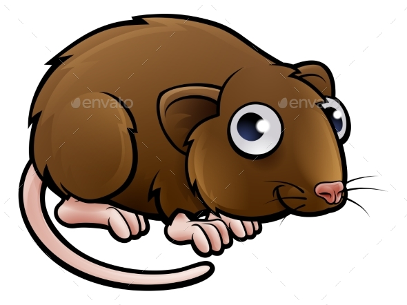 Vole Cartoon Character - Animals Characters