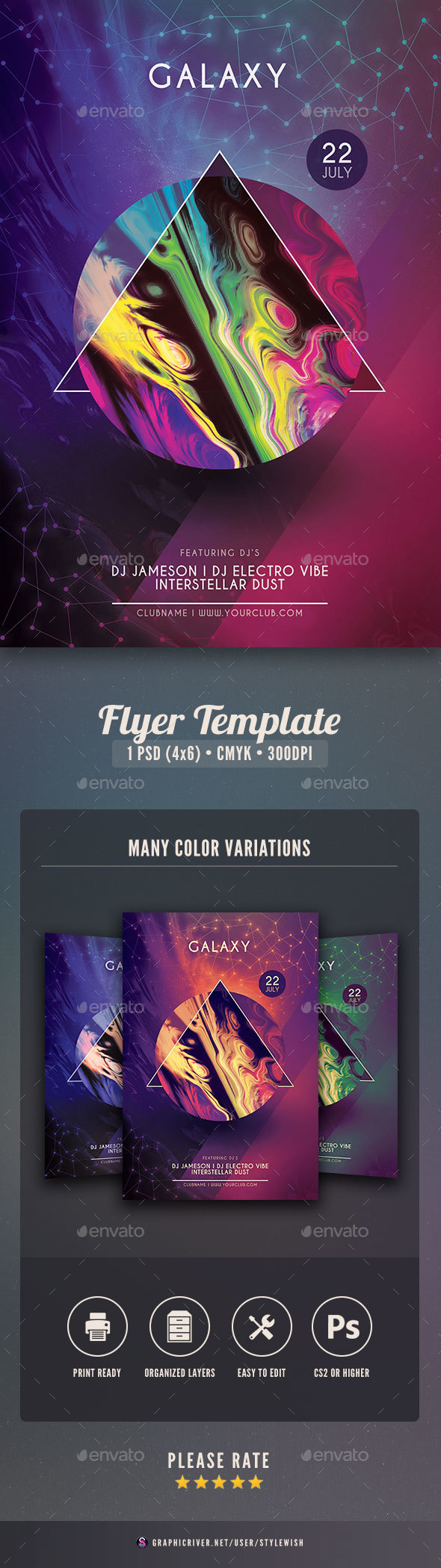 Galaxy Flyer - Clubs & Parties Events