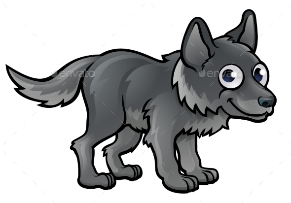 Wolf Cartoon Character - Animals Characters