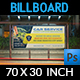 Car Service Billboard Template - GraphicRiver Item for Sale