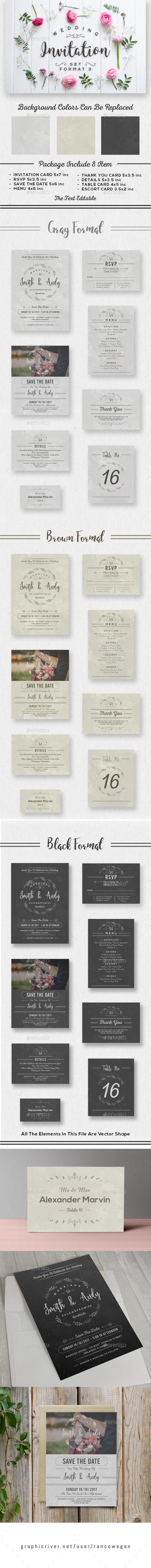 Wedding Invitation Set Format 3 - Weddings Cards & Invites