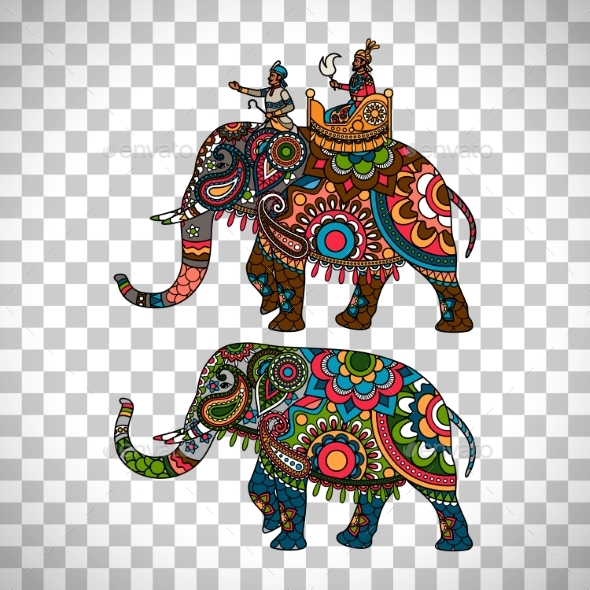 GraphicRiver Indian Elephant Transparent Background 20323163
