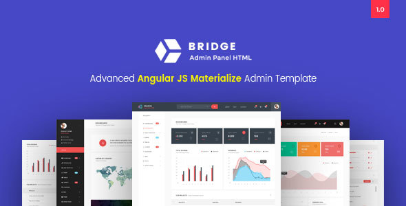 Bridge – Admin Panel HTML Template with Angular JS Coding            nulled