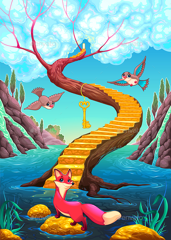 GraphicRiver The Golden Stair 20323233