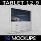 Tablet Pro 12.9 App MockUp 2017 VOL2