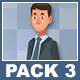 Businessman And Businesswoman Walking Cartoon Characters Pack 3