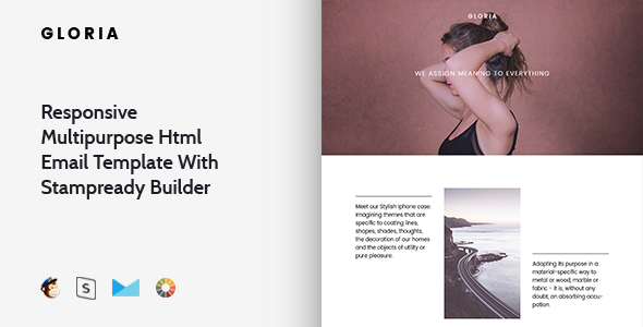 Gloria – Responsive Multipurpose Email Template + Stampready Builder