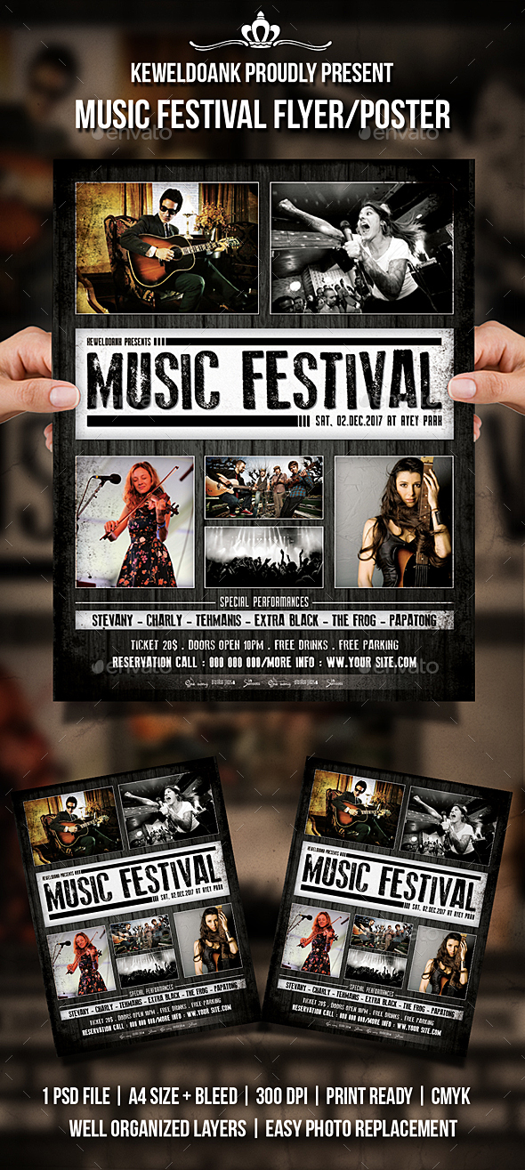 Music Festival Flyer / Poster - Events Flyers