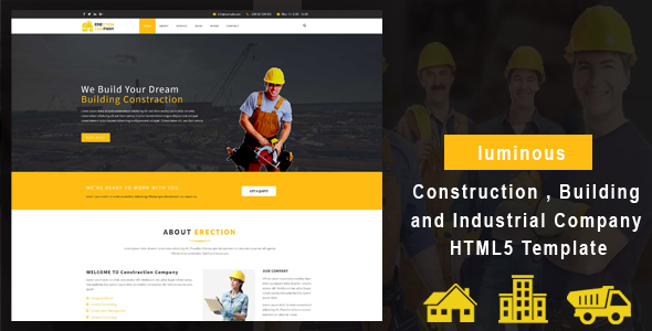 luminous - Construction , Building and Industrial Company HTML5 Template - Business Corporate