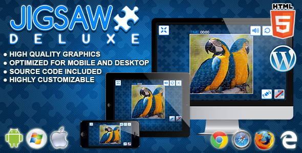Jigsaw Deluxe - HTML5 Puzzle Game