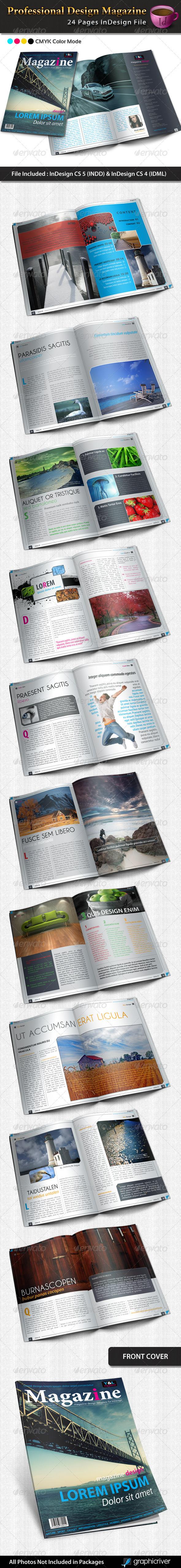 Professional Design Magazine Template - Magazines Print Templates