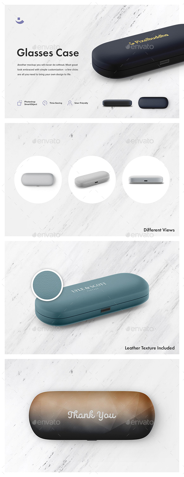 Glasses Case Mockup Set - Logo Product Mock-Ups