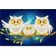 Cartoon Funny Family of Grey Owls - GraphicRiver Item for Sale