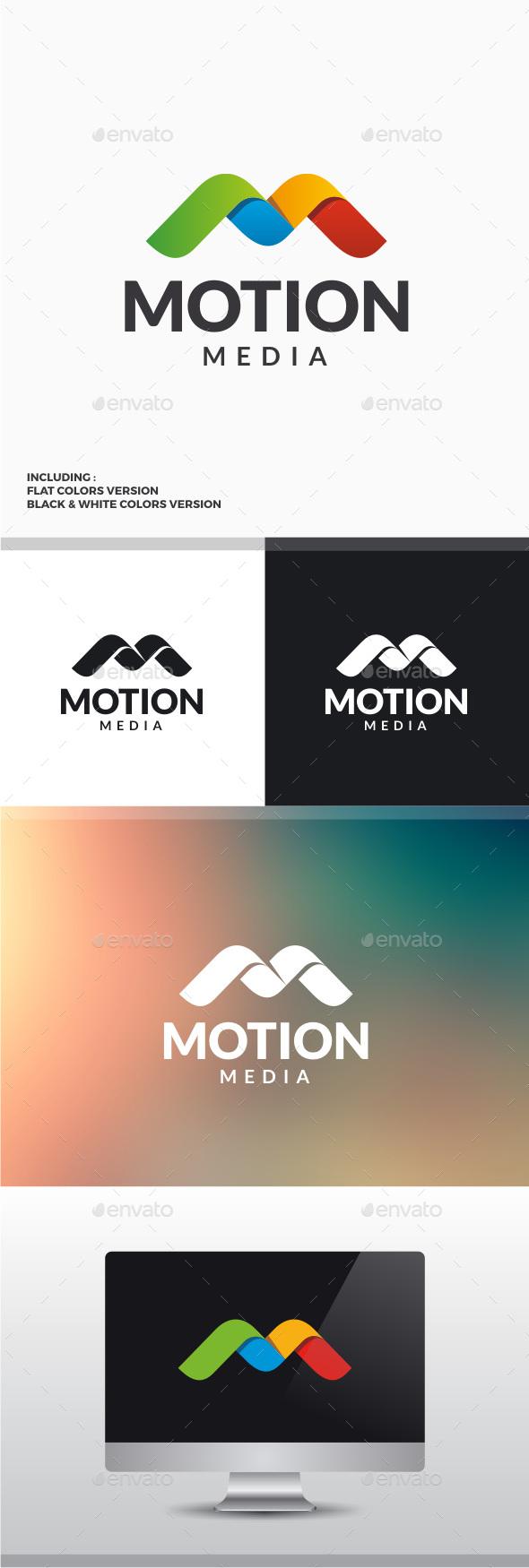 Motion Media - Letter M Logo - Letters Logo Templates