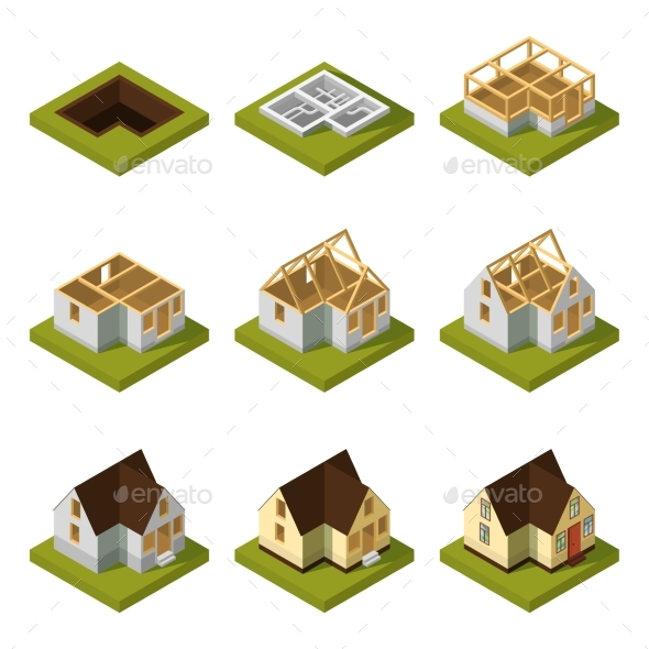 Visualization of Modern Building on Different - Buildings Objects