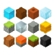 Isometric Blocks with Different Texture for 3D