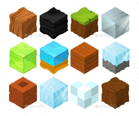 Cartoon Texture Illustration on Different - Objects Vectors