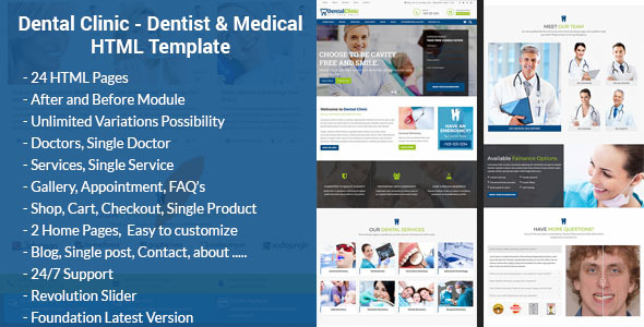Dental Clinic - Dentist & Medical HTML Template