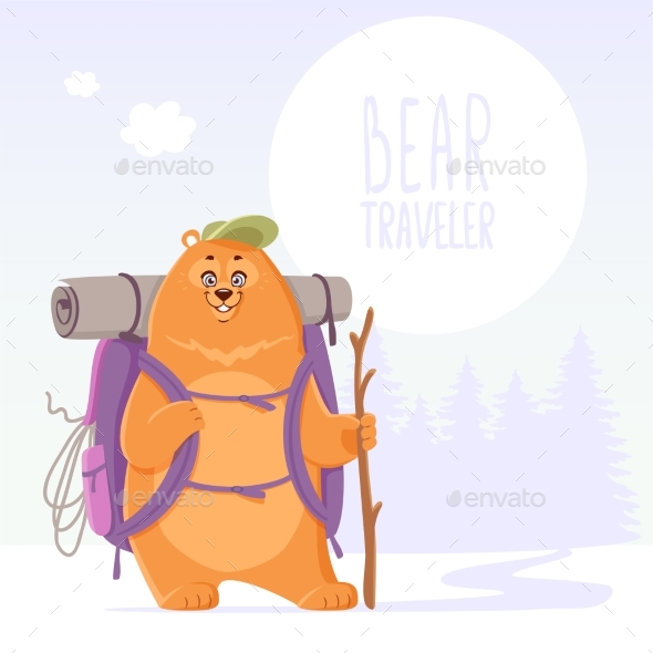 Bear Traveler Adventure - Animals Characters