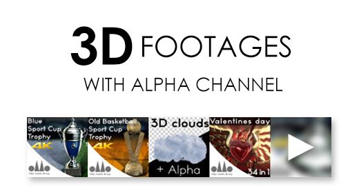 3D Footages with alpha channel