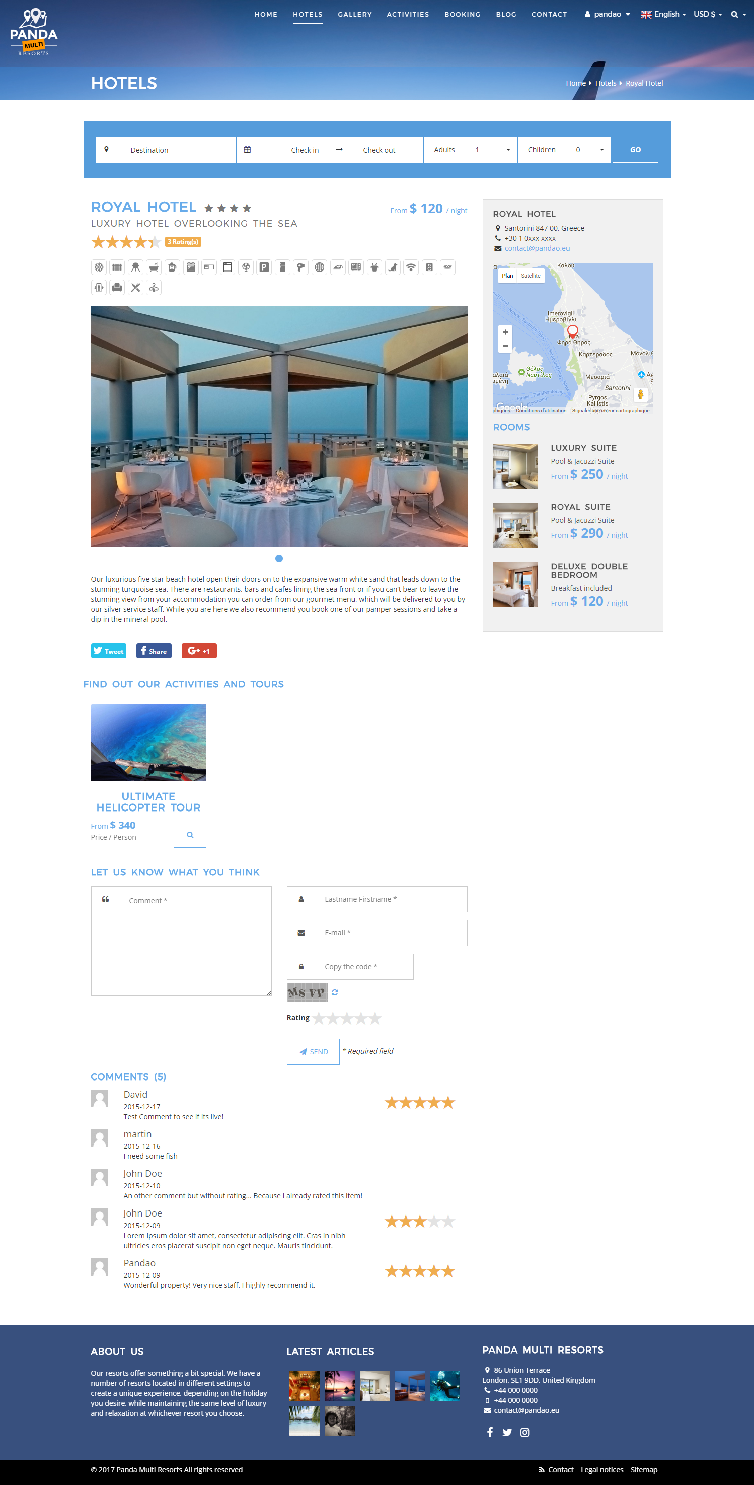 panda multi resorts 5 - booking cms for multi hotelspandao