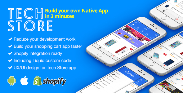 TechStore - React Native eCommerce Mobile App for Shopify - CodeCanyon Item for Sale