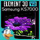 Samsung KS7000 for Element 3D
