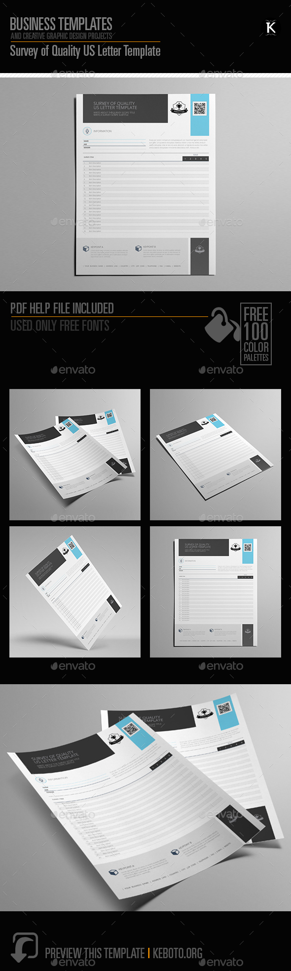 GraphicRiver Survey of Quality US Letter Template 20324315