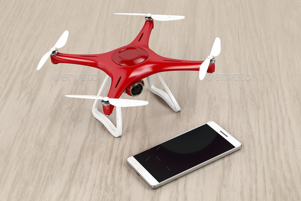 Drone and smartphone