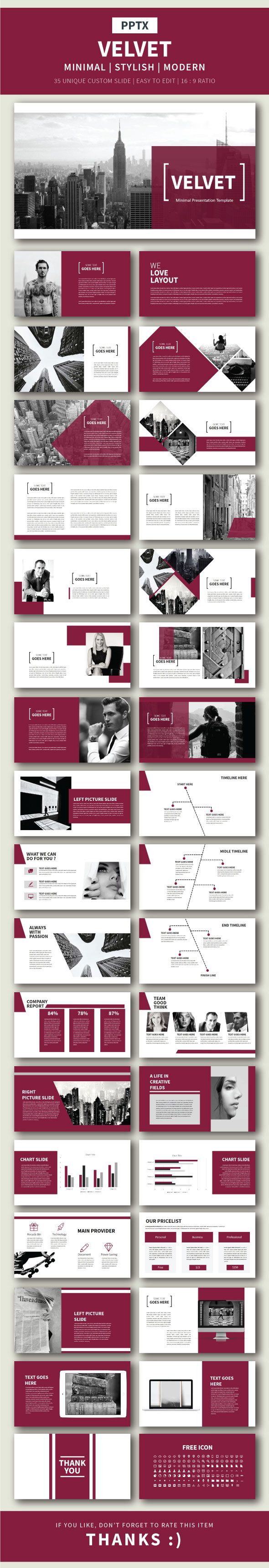Velvet Presentation Template - Finance PowerPoint Templates