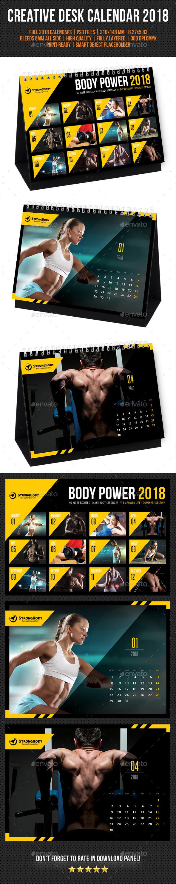 Creative Desk Calendar 2018 V30 - Calendars Stationery