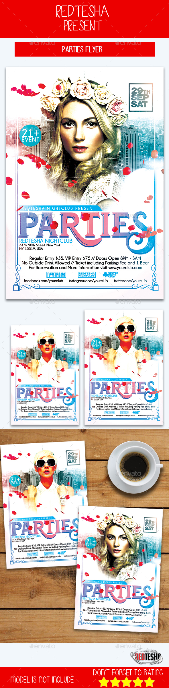 Parties Flyer - Clubs & Parties Events