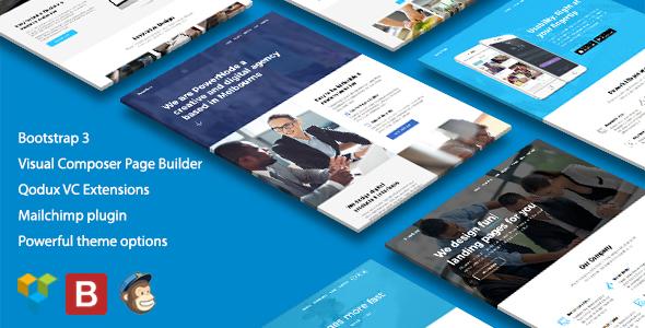 PowerNode - Multi-Purpose Landing Page WordPress Theme - Marketing Corporate