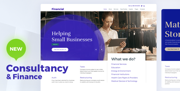 Consultancy - Consulting Finance WordPress - Business Corporate