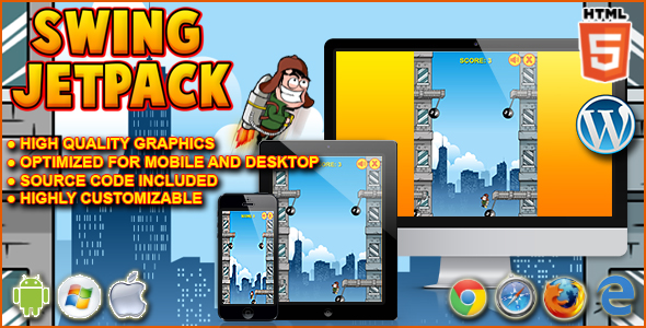 Swing Jetpack - HTML5 Game - CodeCanyon Item for Sale