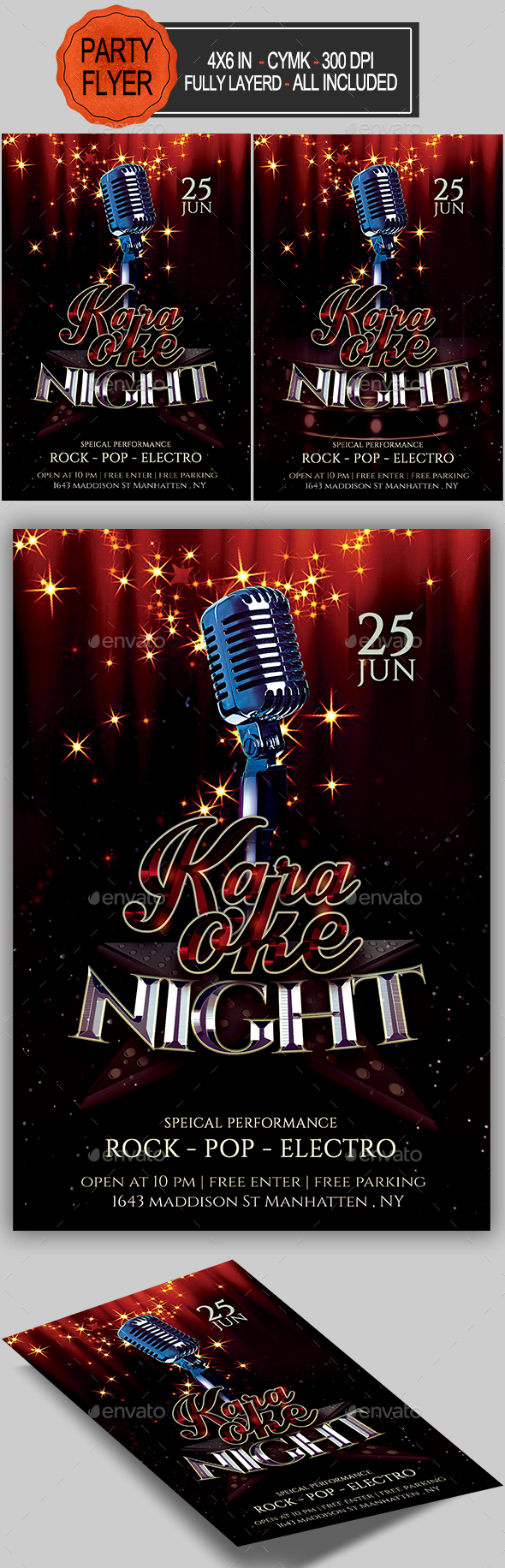 GraphicRiver Karaoke Flyer 20325101