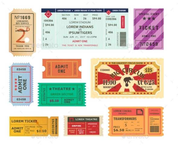 Vintage Tickets - Miscellaneous Vectors