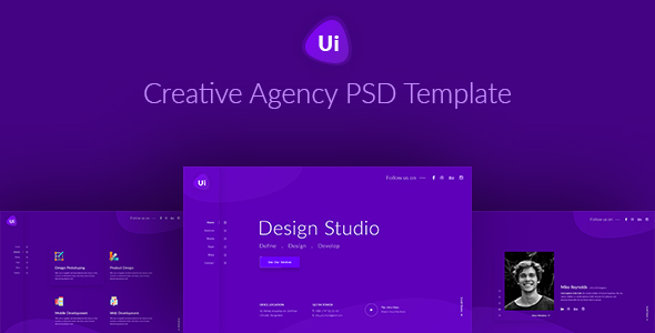 Design Studio - Creative Agency PSD Template