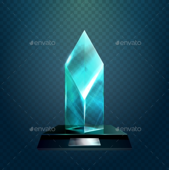 Transparent Rhombus Cup or Winner Trophy - Miscellaneous Vectors