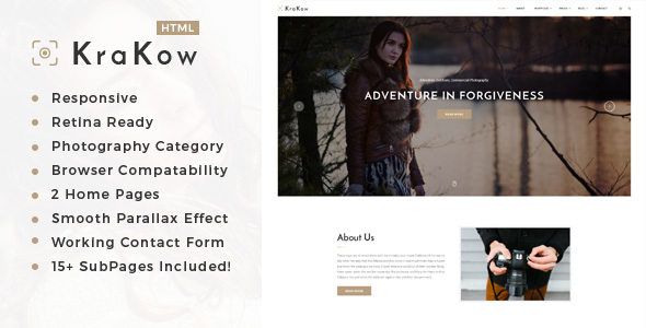 Krakow - Photography HTML Template